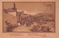Cartolina - Postcard - Illustrata - Borgo - Poesia Ada Negri - 1919