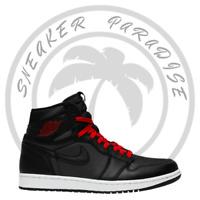 Nike Air Jordan 1 Retro High OG Black Satin Gym Red Men's Size 555088-060