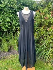 High Use by Claire Campbell Women's Black Sleeveless long Dress, UK14, I46