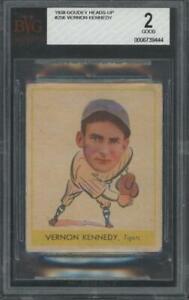 1938 Goudey Heads Up #256 Vernon Kennedy Good BVG 2