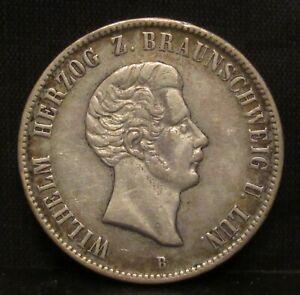 Germany Brunswick-Wolfenbuttel 1854 B 1 Thaler XF