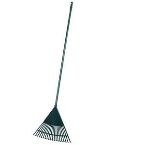 JVL Green 20 Teeth Garden Lawn Leaf Rake