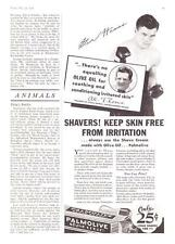 1934 Champion Boxer Steve Hamas photo Palmolive Shave Cream vintage print ad