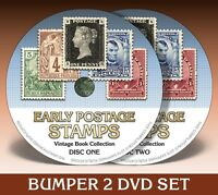 EARLY POSTAGE STAMPS - 238 Rare Books on 2 DVDs! * Philately * Postal History