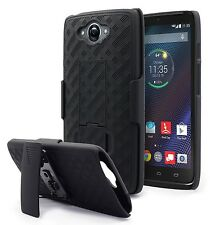 For Motorola Droid Turbo XT1254 Black Holster Shell Combo Case Clip