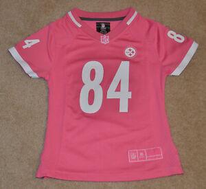 Mint! Pittsburgh Steelers - Antonio Brown - Kids Girls Small 7 / 8 - Pink Jersey