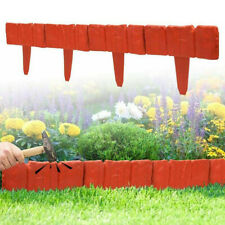 20Pcs Imitation Stone Lawn Grass Edging Garden Flower Plant Bed Border Fence