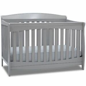 Delta Children Colton 6-in-1 Convertible Crib, Grey