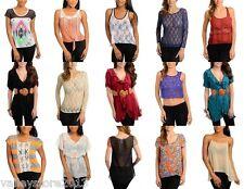 R1 Lot 25 pcs Women tops Junior Apparel Mixed Summer dresses Wholesale S M L
