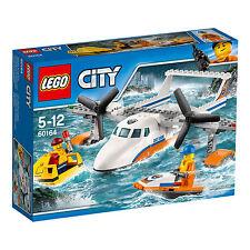60164 LEGO City Coast Guard Sea Rescue Plane 141 Pieces Age 5-12 Years New 2017!