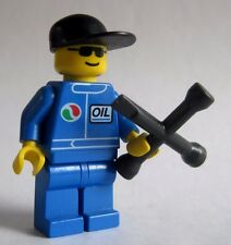 Lego Mechanic Minifigure with Custom LUG WRENCH by Brickforge -Octan City Town