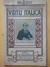 1915-VIRTU'ITALICA-Don ENRICO TAZZOLI-EMILIA PICCO-RISORGIMENTO-MANTOVA