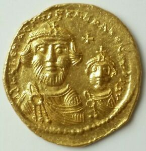 613-641 A.D. Byzantine Empire Heraclius Gold Solidus