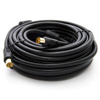 5m 4K TV Antennenkabel Koax Stecker auf Buchse HDTV Kabel Kabelanschluss Schwarz