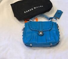 Karen Millen Turquoise Leather Hand & Shoulder Bag With Dustbag New With Tags