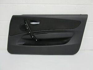 BMW E81 E82 E88 1 SERIES 2007-12 M SPORT BLACK CLOTH DRIVERS INTERIOR DOOR CARD