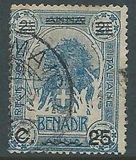 1906-07 SOMALIA USATO LEONE 25 CENT SU 2 1/2 A - U44-10
