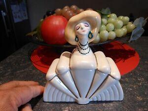 Jolie Ancienne Boite a Bijou de Table de Nuit ou Maquillage Femme Style Art Déco