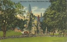 OLD VINTAGE MAC-O-CHEE CASTLE PLACE IN WEST LIBERTY OHIO LINEN POSTCARD