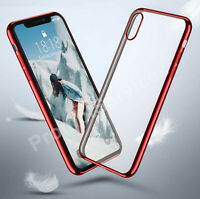 Case For iPhone X 6s 7 8 Plus XR Bumper Slim Shockproof Silicone Clear Cover