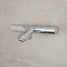 Brass Chrome Modern Design Thermostatic Wall Mounted Bath Shower Bar Mixer Tap