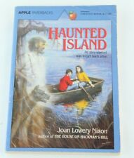 Haunted Island Joan Lowery Nixon 1987 Vintage Horror Scholastic Paperback Book
