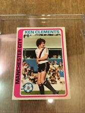 Manchester City TOPPS Football Card MCFC Kenny Clements 1979 Blue Back #16