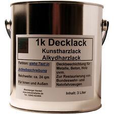 Kunstharz Lack RAL 6003 matt Olivgrün Bundeswehr 3 Liter