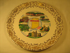 "Porcelain Collector Plate 9.5"" INDIANA Hoosier State George Rogers [Y66]"