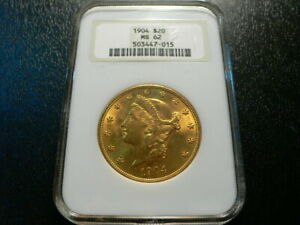 1904 $20 Gold Liberty Head Double Eagle (NGC ) MS-62