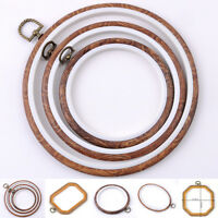 DIY Embroidery Wooden Frame Hoop Ring Cross Stitch Sewing Tool Art Bamboo Crafts