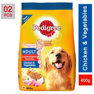 2pcs Pedigree Adult Dog Food Free Dry Chicken & Vegetables (400g) Good Health