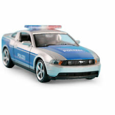 1:32 Ford Mustang GT Police Model Car Alloy Diecast Gift Toy Vehicle Blue Kids