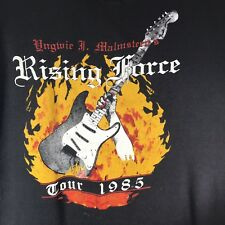 Yngwie Malmsteen Rising Force Marching Out 1985 Tour T Shirt Authentic XL Worn