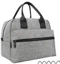 Lunch Bags For Women & Men Insulated Lunch Box For Lunch Cooler Tote - Gray