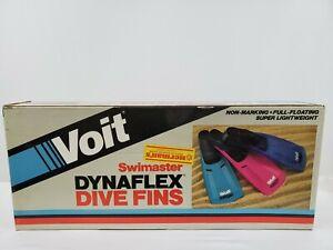 New Voit Swimaster Dynaflex Dive Fins Size 6-7 Italy Vintage