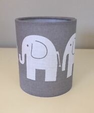 Grey and White Elephant Night Light / Tea Lantern, Babies Nursery