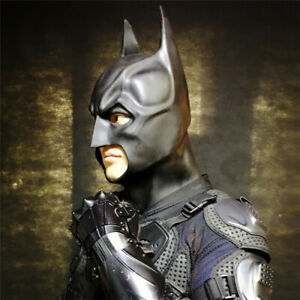 Superhero Batman Helmet Mask Headgear Darts Cosplay Props Halloween Rubber Toys