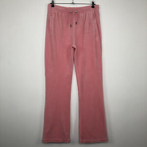 Womens JUICY COUTURE Casual Pink Diamante Track Bottoms Size L - LARGE