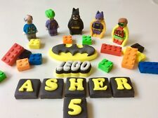Edible Fondant Lego Batman Movie & Bricks  Cake Topper Birthday Decoration