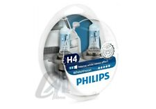 LAMPADE PHILIPS WhiteVision  H4 12V 60/55W +60% 3700K + 2 LUCI DI POSIZIONE W5W