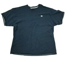 Champion Men's Tshirt Size 2Xl Xxl Navy Blue Short Sleeve Monogram Minimalist