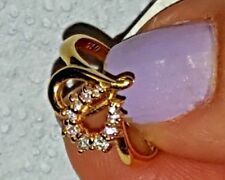 14 KT Yellow Gold heart ring with diamonds