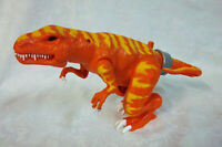 "Orange Yellow Roaring 3 Sound Lever Arm Mouth Movement Toy 6""Hx12""L Heavy Duty"