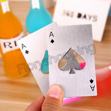 New Beer Cap Bottle Opener Playing Card Ace of Spades Poker Soda Bar Tool Gift