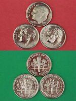 1990 1991 1992-1995 1996 1997 1998 1999 S Proof Roosevelt Dime 10 Coin Set Lot