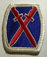 MILITARY PATCH US ARMY COLORED SHOULDER 10TH MOUNTAIN DIVISION SEW ON WWII ERA