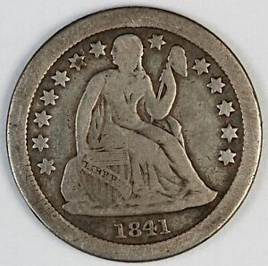 1841-O United States Seated Liberty Dime - F Fine Condition