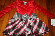 Bonnie Jean Girls Plaid Sparkle party Tutu size 4T    price tag $50.00