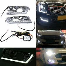 2x DRL Driving Signal LED Daytime Running Light Fit Cadillac SRX II 2010-2016